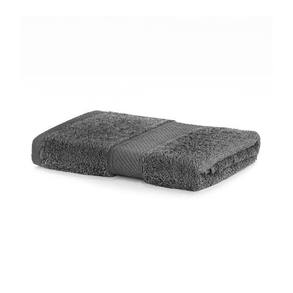 Tmavosivý uterák DecoKing Bamby, 50 × 100 cm