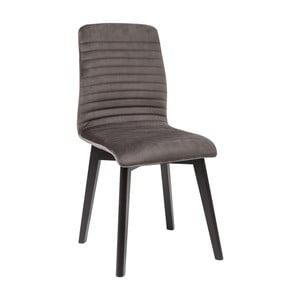 Sada 2 tmavě šedých jídelních židlí Kare Design Lara