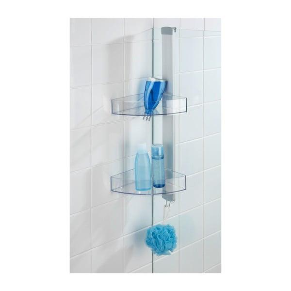 Rohová závěsná koupelnová polička Wenko Premium, 21 x 20 cm