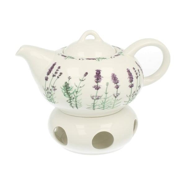 Porcelánová konvička s ohřívačem Duo Gift Lavender