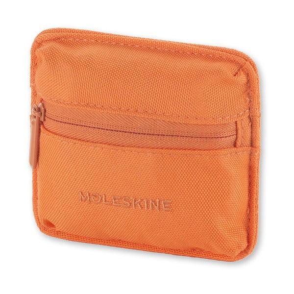 Univerzální kapsička se suchým zipem Moleskine 10x9 cm, oranžová