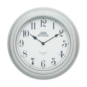 Nástěnné hodiny Kitchen Craft Living Nostalgia Grey, ⌀ 25,5 cm
