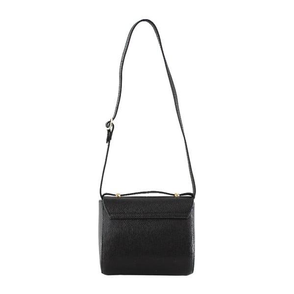 Kožená taška přes rameno Sonja, černá