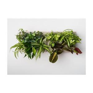 Vertikální květináč s neviditelným stojanem HOH! Duo Smart Grigio, 78x27 cm