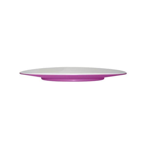 Fialový dezertní talíř Entity, 21 cm