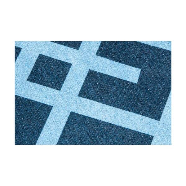 Vysoce odolný kuchyňský koberec Webtappeti Labyrinth Blue,130x190cm