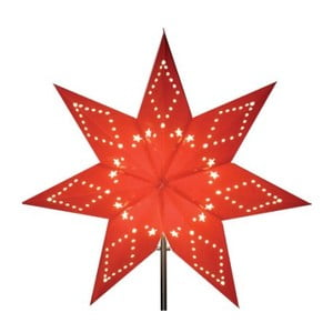 Červená svítící hvězda bez kabelu Best Season Katabo Paper, 43 cm