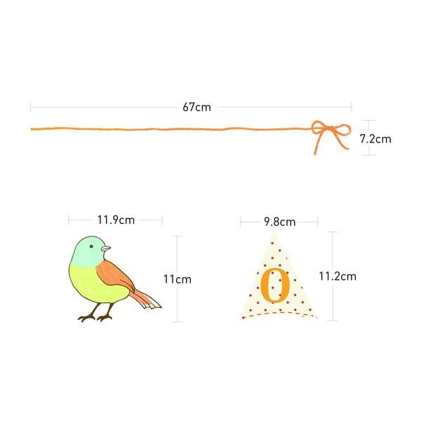 Samolepka Ambiance Birds On Wire