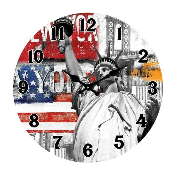 Skleněné hodiny V New Yorku, 34 cm