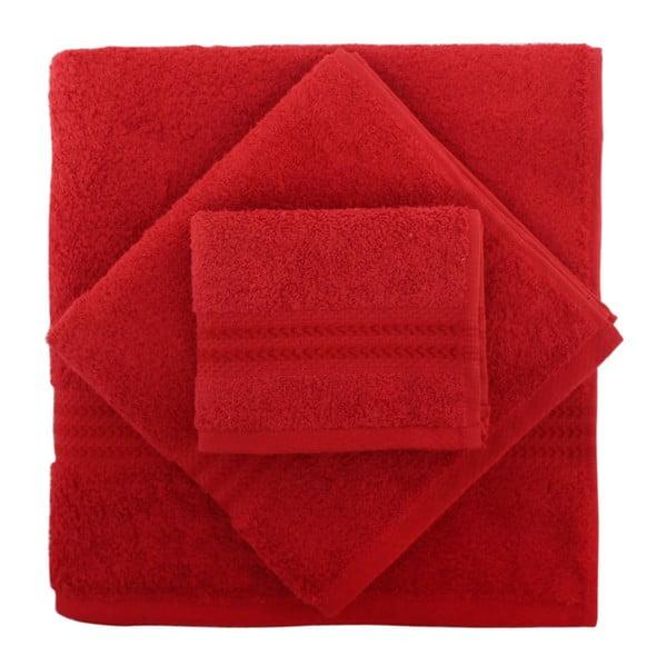 Rainbow 2 db-os piros színű pamut törölköző és kéztörlő szett