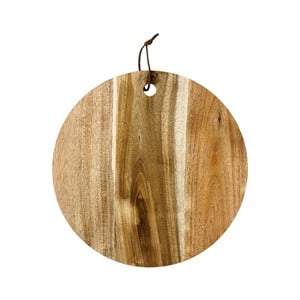 Tocător pentru servit, din lemn de salcâm, Ladelle, ⌀ 30 cm