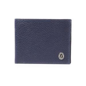 Modrá pánská kožená peněženka Trussardi Royal, 12,5 x 9,5 cm