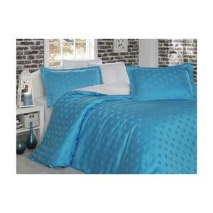 Lenjerie de pat cu cearșaf Puan, 200 x 220 cm, albastru