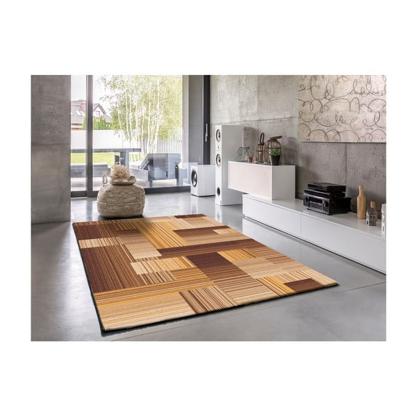 Béžový koberec Universal Amber, 250 x 67 cm