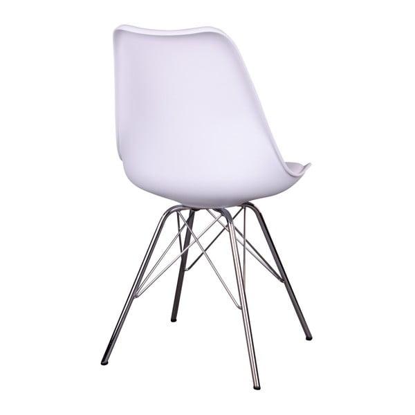 Sada 2 bílých židlí House Nordic Oslo Chrome