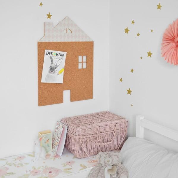 Dekorativní samolepící nástěnka Dekornik Pink House With Stars, 57x40cm