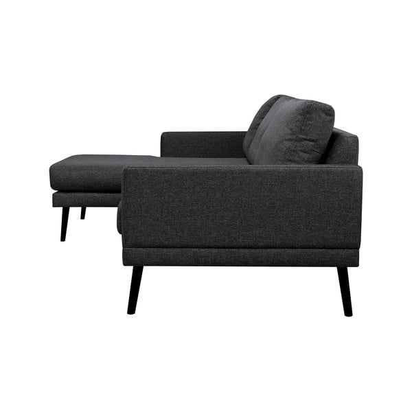 Černá rohová pohovka Windsor & Co Sofas Rigel, levý roh