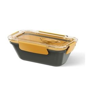 Box na jídlo Rectangular Black/Orange, 0,5 l