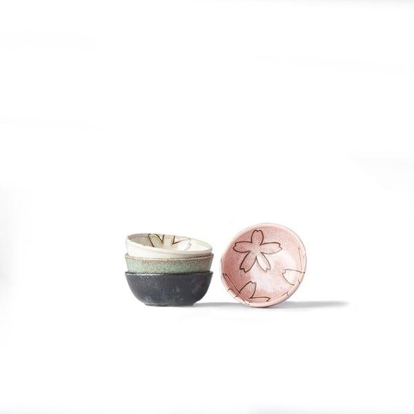 Zestaw 4 miseczek na sos MIJ Flower, ø 9 cm