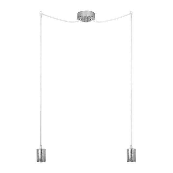Dvojité závěsné kabely Cero, stříbrná/bílá/stříbrná