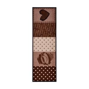 Hnědý kuchyňský běhoun Zala Living CoffeeHeart, 50 x 150cm
