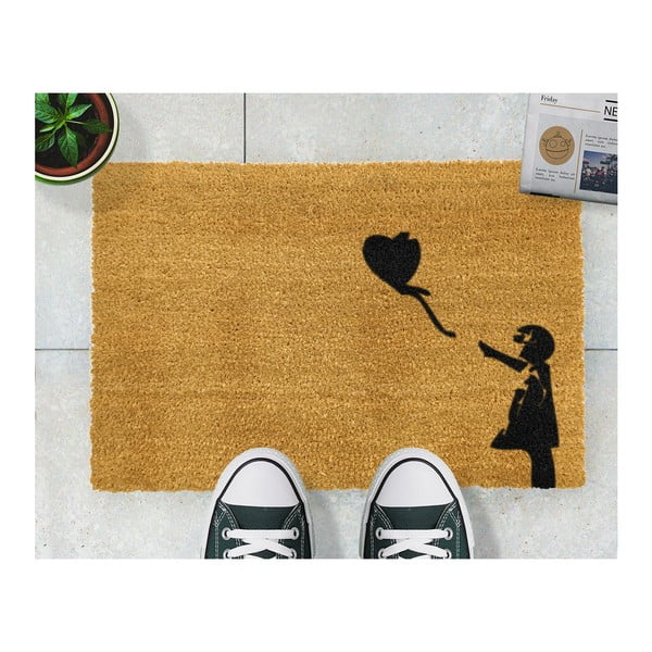 Rohožka Artsy Doormats Girl with a Balloon Graffiti, 40 x 60 cm
