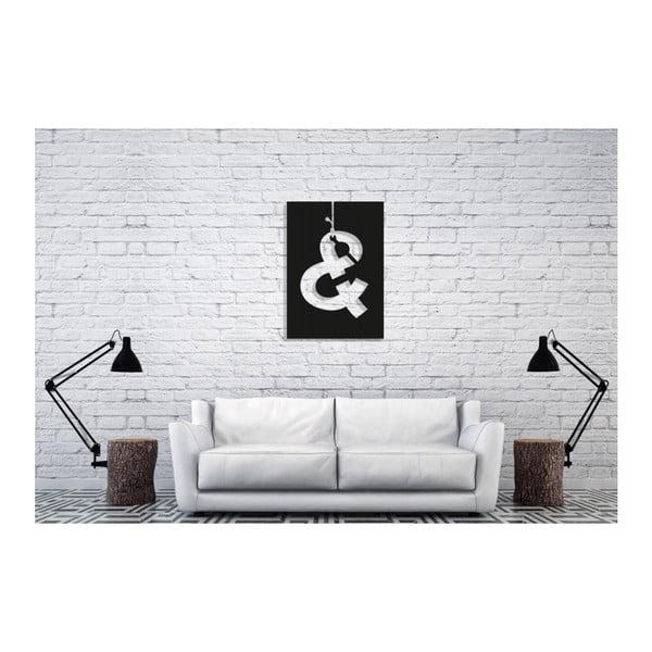 Černá nástěnná dekorace Oyo Concept And, 40x60cm