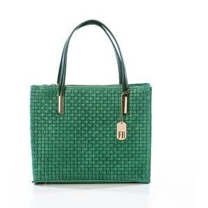Zelená kožená kabelka Federica Bass Homam