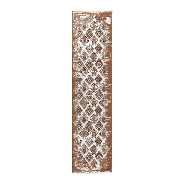 Covor reversibil Homemania Halimod, 77 x 300 cm, bej-maro