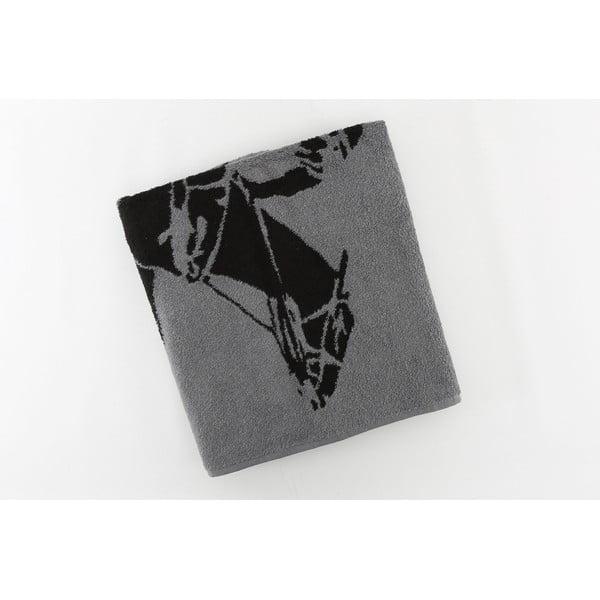 Bavlněná osuška BHPC 80x150 cm, antracitová