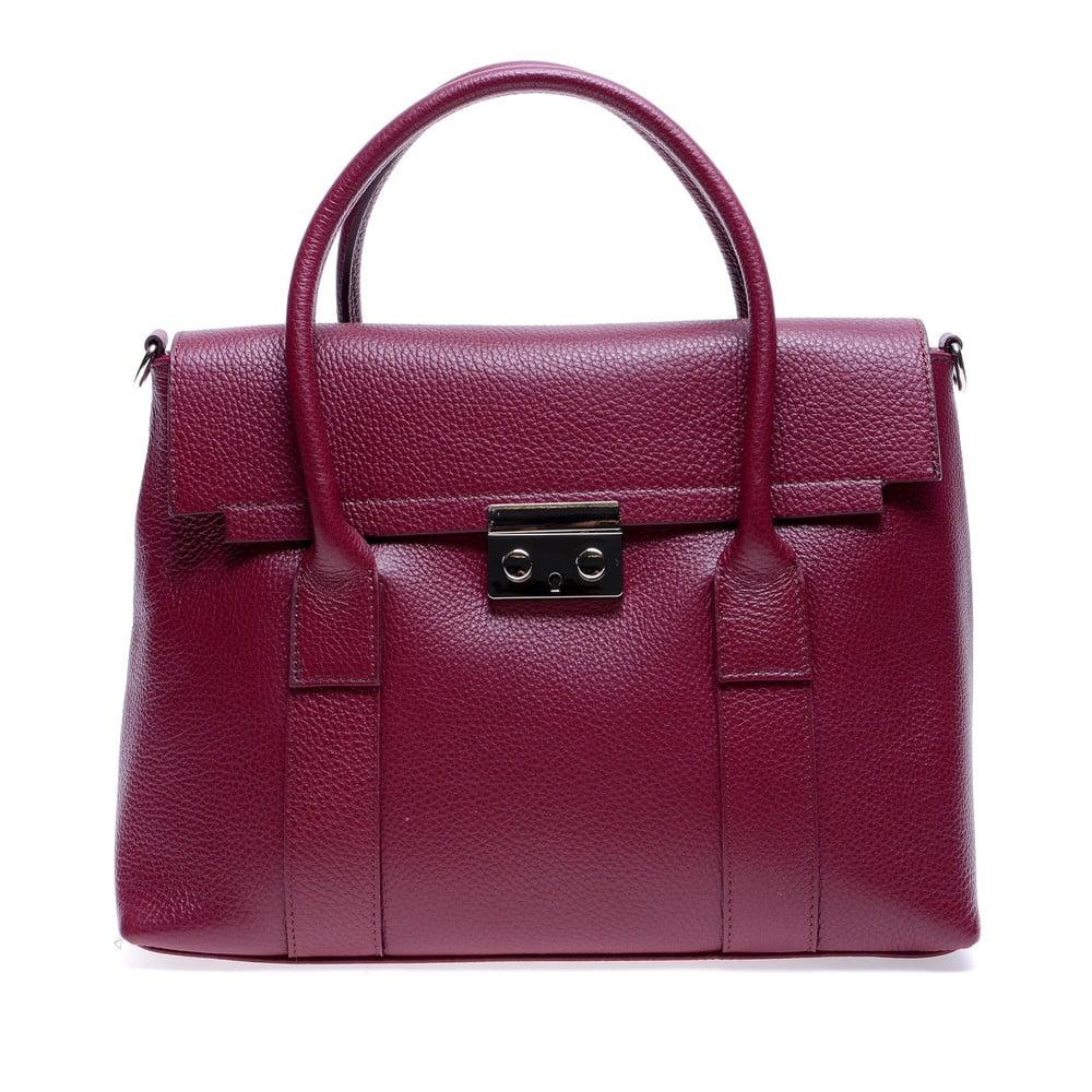 Červená kožená kabelka Roberta M Paola