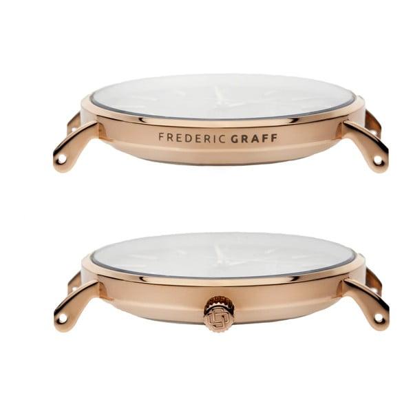 Ceas unisex Frederic Graff Rose Dent Blanche Gold, curea metalică, roz-auriu