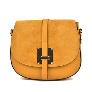 Žlutá kožená kabelka Sofia Cardoni Claudia