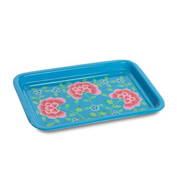 Tác Franjipani Floral Tray, modrý