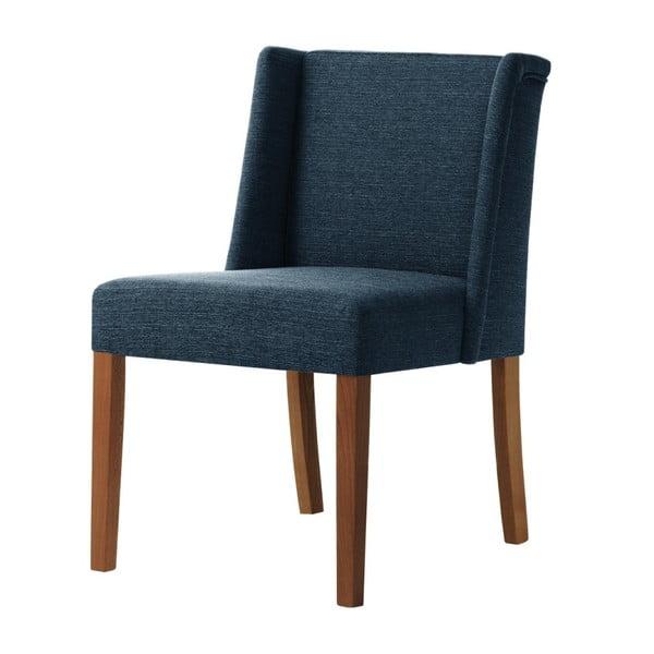 Modrá židle s tmavě hnědými nohami z bukového dřeva Ted Lapidus Maison Zeste