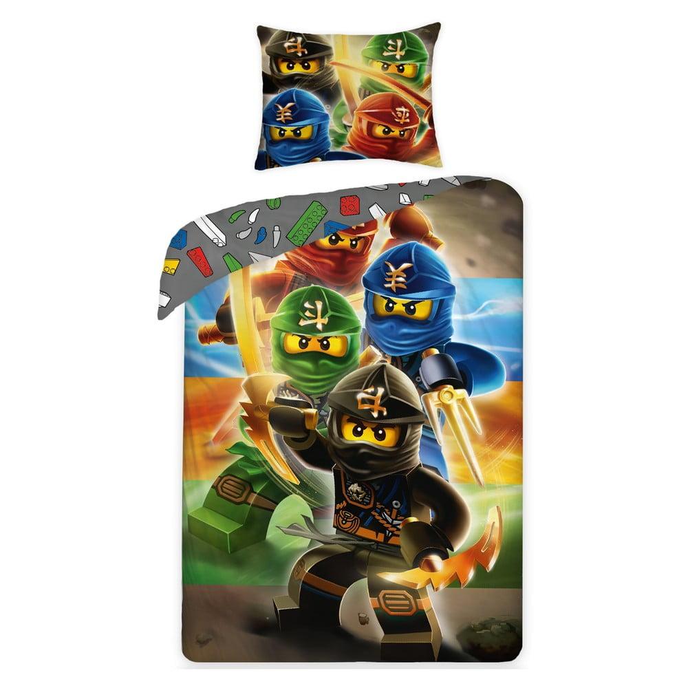 Dětské bavlněné povlečení Halantex Lego Ninjago, 140 x 200 cm
