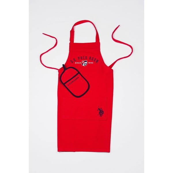Sada kuchyňské chňapky a zástěry U. S. Polo Assn.