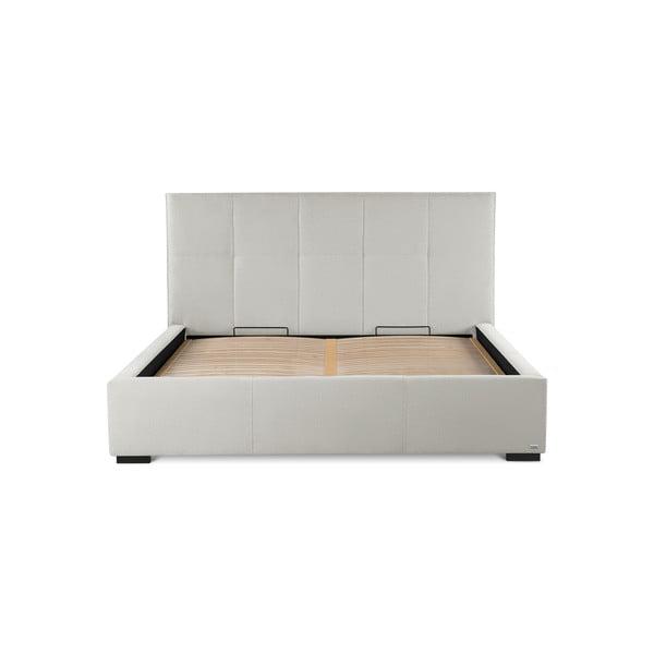 Krémově bílá dvoulůžková postel s úložným prostorem Guy Laroche Home Allure, 140x200cm
