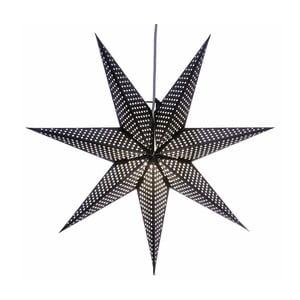 Závěsná svítící hvězda Huss Black, 60 cm