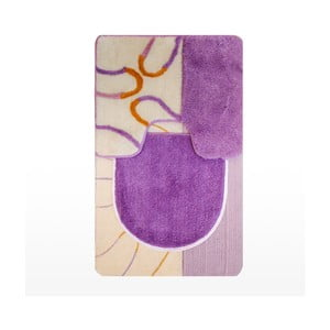 Set dvou podložek + potah na WC prkénko Janis Home, lilac