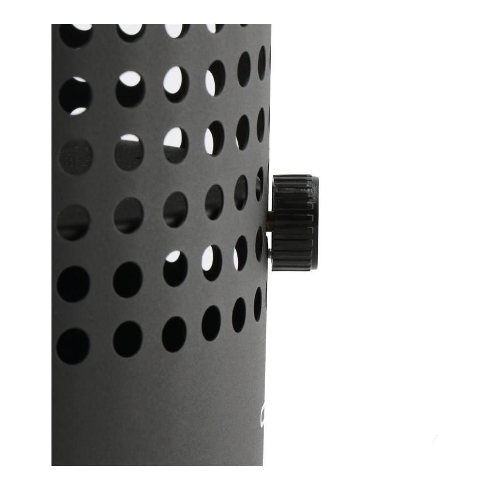 Černá plynová lampa Cosi Drop, výška 37 cm