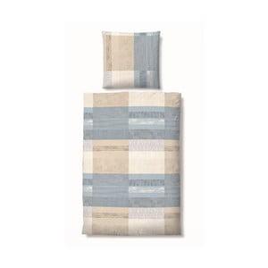 Povlečení Biber Komfort Square Blue, 135x200 cm