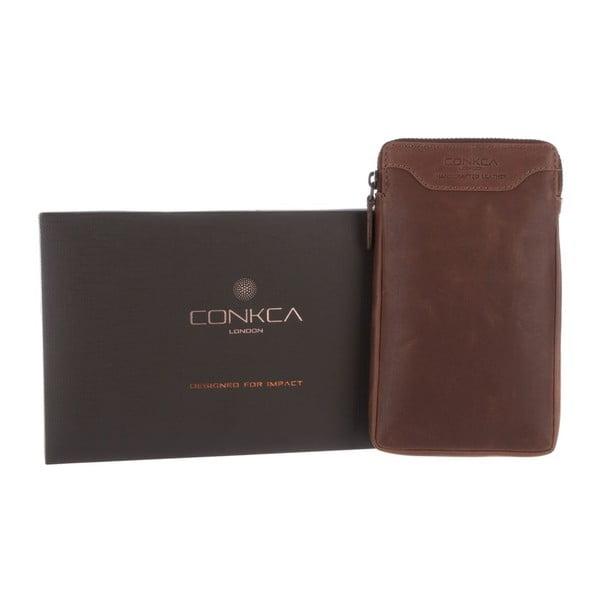 Multifunkční kožené pouzdro Shield Vintage Brown