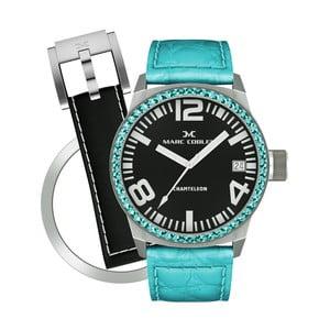 Dámské hodinky Marc Coblen s páskem a kroužkem navíc P104