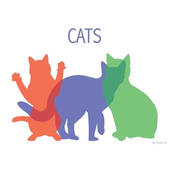 Plakát Kočky
