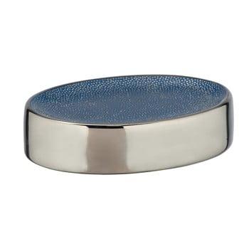 Săpunieră ceramică Wenko Badi, albastru - argintiu imagine