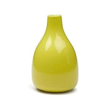 Vază din gresie ceramică Kähler Design Botanica, înălțime 18 cm, galben