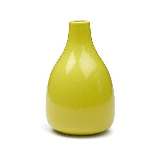 Žltá kameninová váza Kähler Design Botanica, výška 18 cm