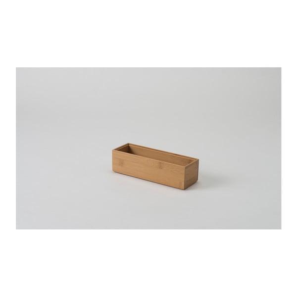 Organizator din bambus Compactor, 22,5 x 7,5 x 6,35 cm