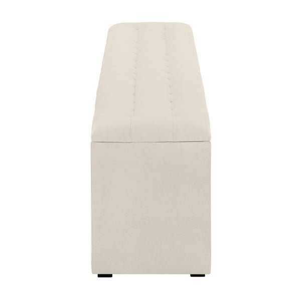 Krémový otoman s úložným prostorem Windsor & Co Sofas Nova, 200 x 47 cm